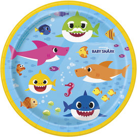 Beverage Paper Plates-Baby Shark