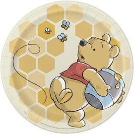 """Luncheon Paper Plates-Winnie The Pooh-8pk-8 5/8"""""""