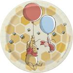"Beverage Paper Plates-Winnie The Pooh-8pk-6 3/4"""