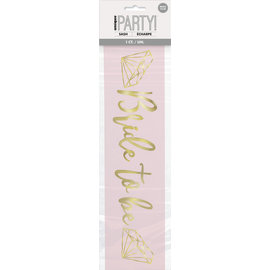 Sash-Bride To Be-Pink and Gold