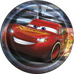 Luncheon Paper Plates-Cars 3