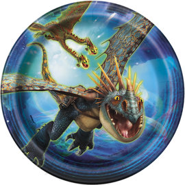 Beverage Paper Plates- How To Train Your Dragon-8pk-7""
