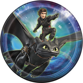 Luncheon Paper Plates-How To Train Your Dragon: Hidden World-8pk-9""