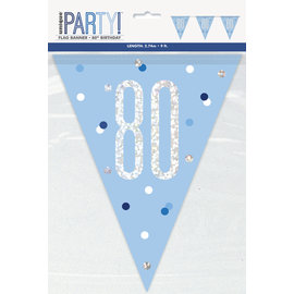 Pennant Banner-80th Birthday