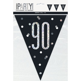 Pennant Banner-90th Birthday
