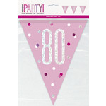 Pennant Banner-80th Birthday