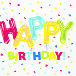 Napkins - LN - Happy Balloon Birthday - 16pk - 2ply