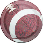 """Beverage Paper Plates-Football Party-8pk-6 3/4"""""""