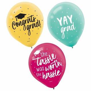 15 Pcs Balloons-Grad