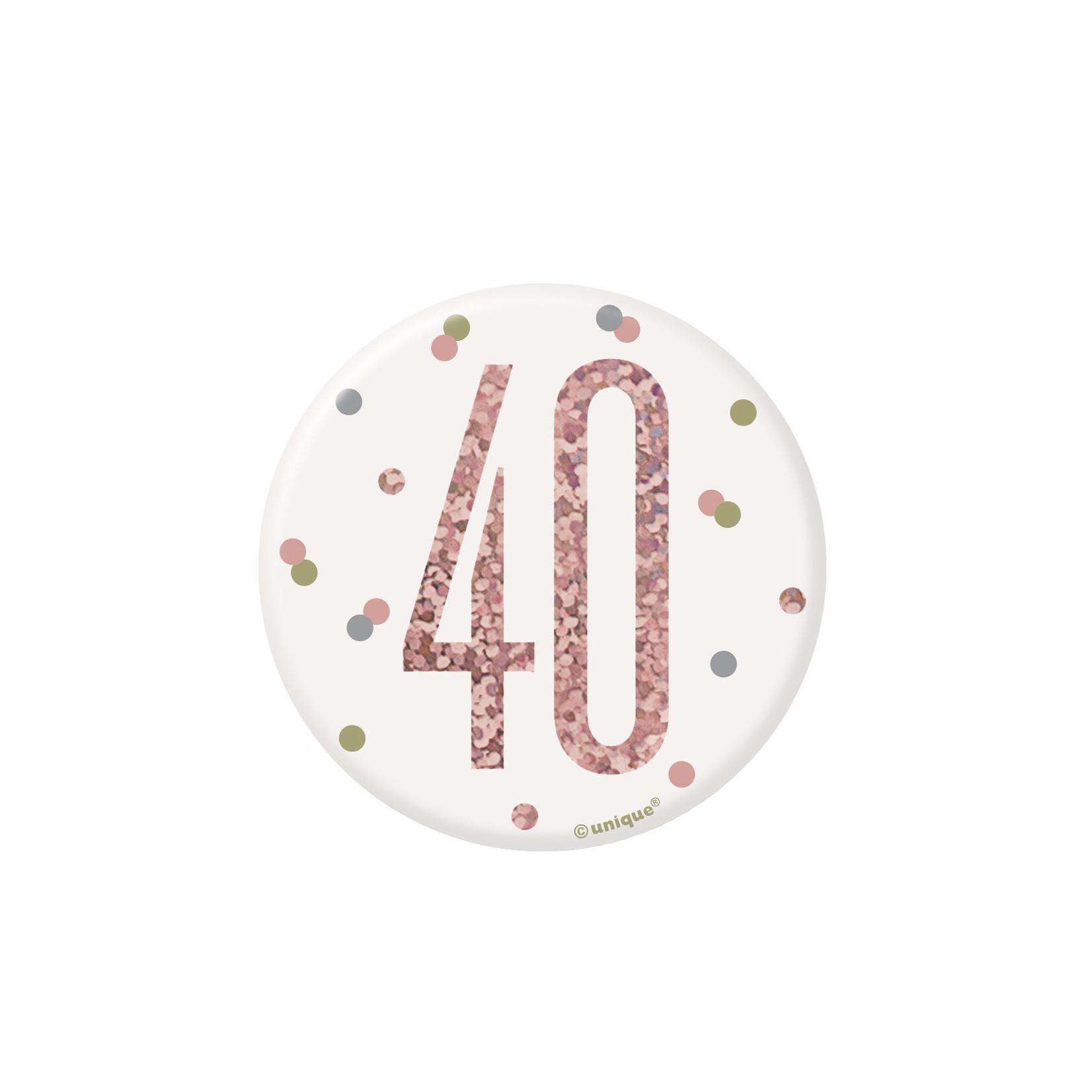 Badge- 40th Birthday