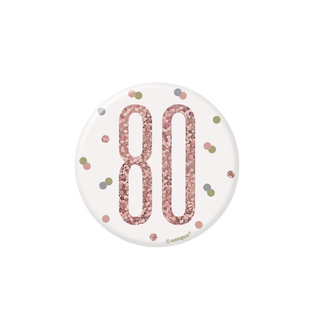 Badge- 80th Birthday