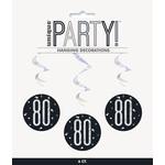 Hanging Decorations-80th Birthday