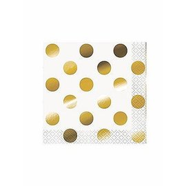 Beverage Napkins-Elegant Gold Dots
