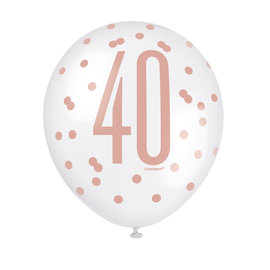 Latex Balloons- 40th Birthday