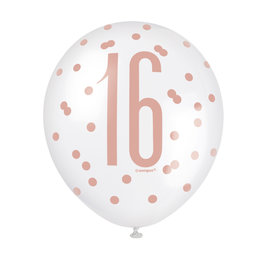 Latex Balloons-16th Birthday