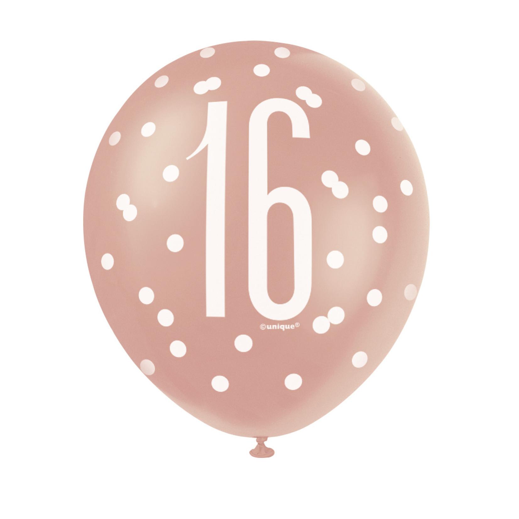 Latex Balloons-16th Birthday