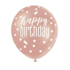 Balloons-Latex-Happy Birthday