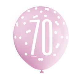 Latex Balloons- 70th Birthday