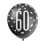 Latex Balloons-Packaged-60th Birthday