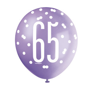 Latex Balloons- 65th Birthday