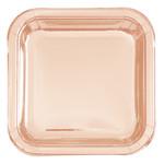 Beverage Plates - Rose Gold