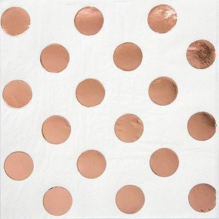 Beverage Napkins- Rose Gold Dots