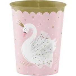Cups-Plastic-Stylish Swan Birthday