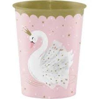 Cups-Plastic-Stylish Swan Birthday-