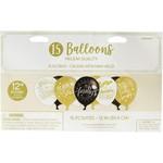 "Balloons-Latex-Graduation-15 Count-12"""