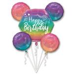 Foil Bouquet - Birthday Sparkle Holographic 5pk