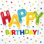 Napkins - BV -Happy Balloon Birthday - 16pk - 2ply