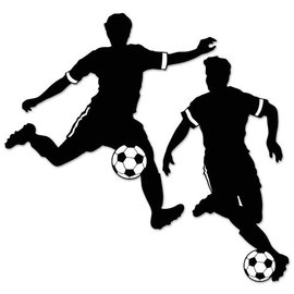Cutouts Boy Soccer (2 PCS) -  2.29FT & 28in