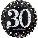 "Foil Balloon-Happy 30th Birthday-Supershape-28"""