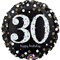 Foil Balloon-Happy 30th Birthday-Supershape-28""