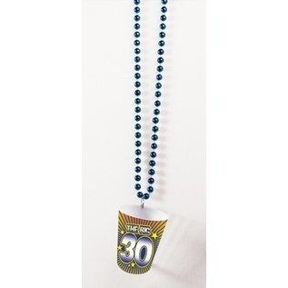 Shot Glass Birthday Beads-30th Birthday