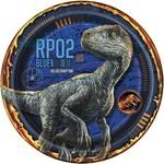 "Beverage Paper Plates-Jurassic World-8pk-7"""