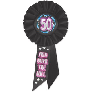 Award Ribbon-50th Birthday-1 Piece