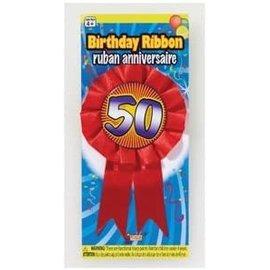 Award Ribbon-50th Birthday