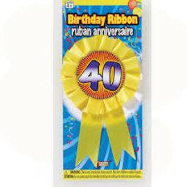 Award Ribbon-40th Birthday