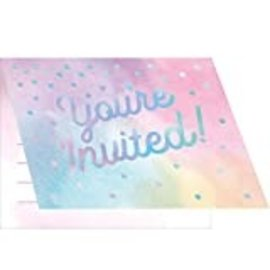 Invitations- Iridescent- 8pk