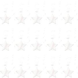 Swirl Decoration-Stars-White-30pk