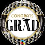"""Foil Balloon- Congrats Grad- 18"""""""