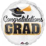 "Foil Balloon- Congratulations Grad- 18"""