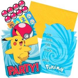 Invitations-Pokemon-8PK