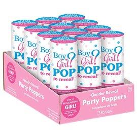 Confetti Popers-Gender Reveal-Girl