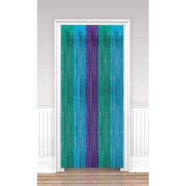 Fringe Door Curtain- Sparkling Sapphire