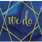 "Luncheon Napkins-Navy Gold Geode-We Do-12.8"" x 12.7""-16 Count"