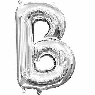 """Foil Baloon Air Filled - """"B"""" - Silver -16"""""""