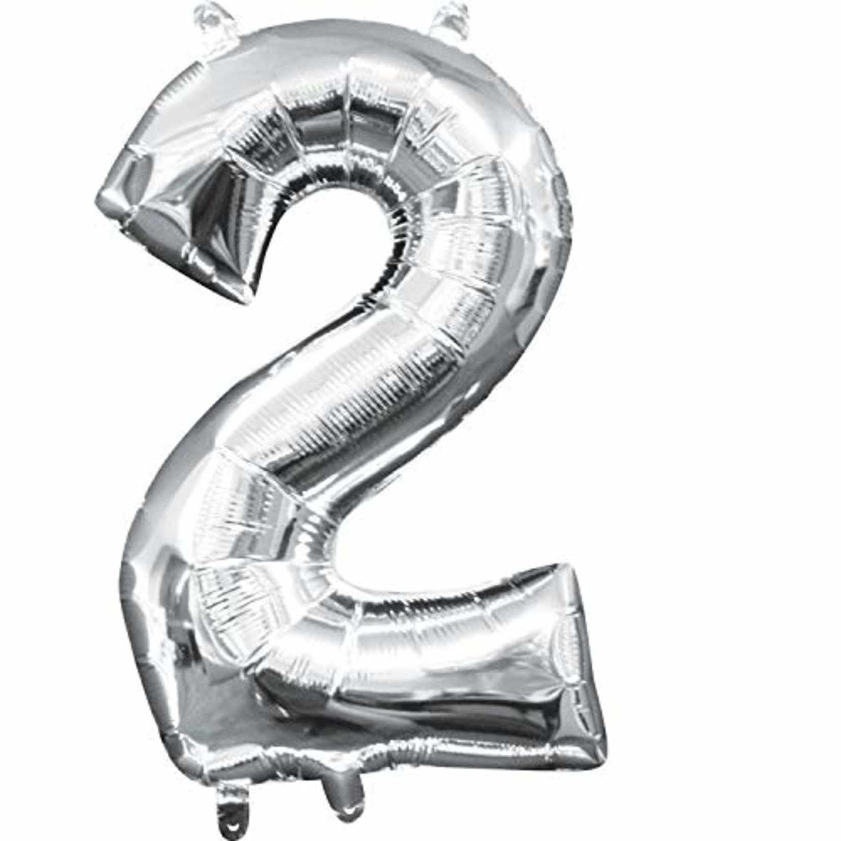 "Foil- Baloon Air Filled - ""2"" - Silver - 16"""