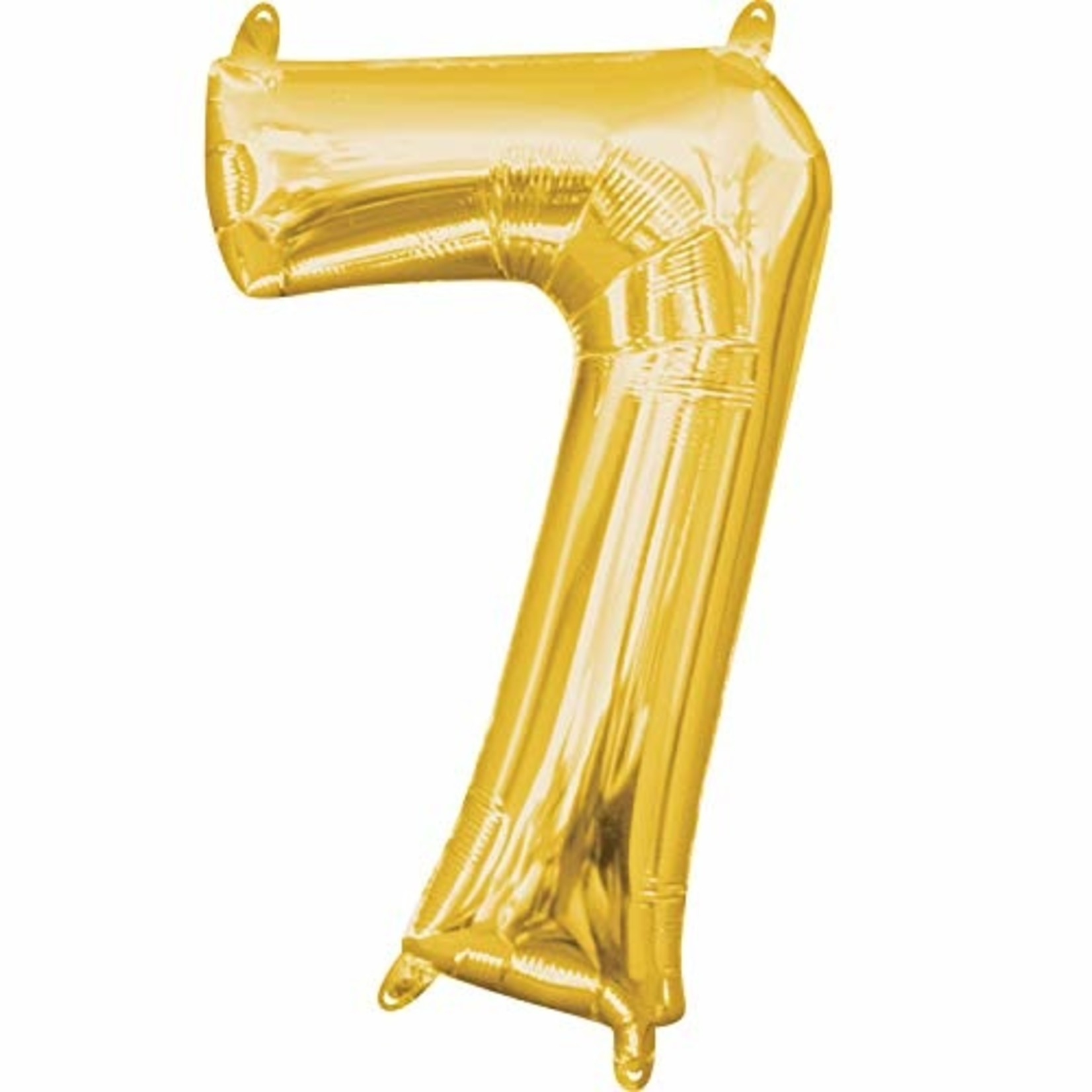 Air Filled Number Balloon-Gold #7